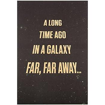 Amazon Hallmark Star Wars Birthday Card Galaxy Far Far Away