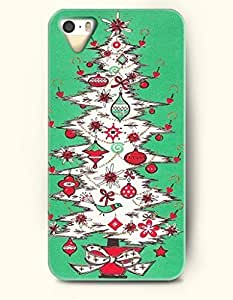 SevenArc iPhone 5 5s Case - Merry Xmas Well Decorated White Christmas Tree In Green Background