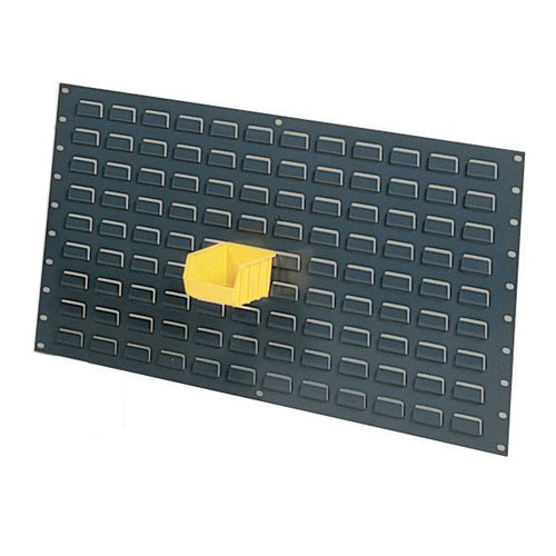 Edsal LP3619 Industrial Gray 16 Gauge Steel Louvered Wall Panel, 36'' Width x 19'' Height