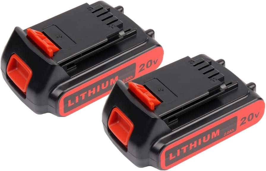 2X Masione 20v 2.5Ah Li-ion Extended Replacement Battery for Black & Decker LBXR20 LB20 LBX20 LBXR2020-OPE LB2X4020 Cordless Tools