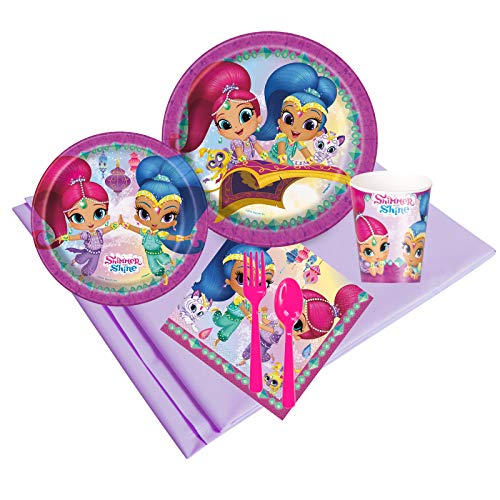 Birthday Express Kits Shimmer and Shine Deluxe Tableware Kit (Serves 8)