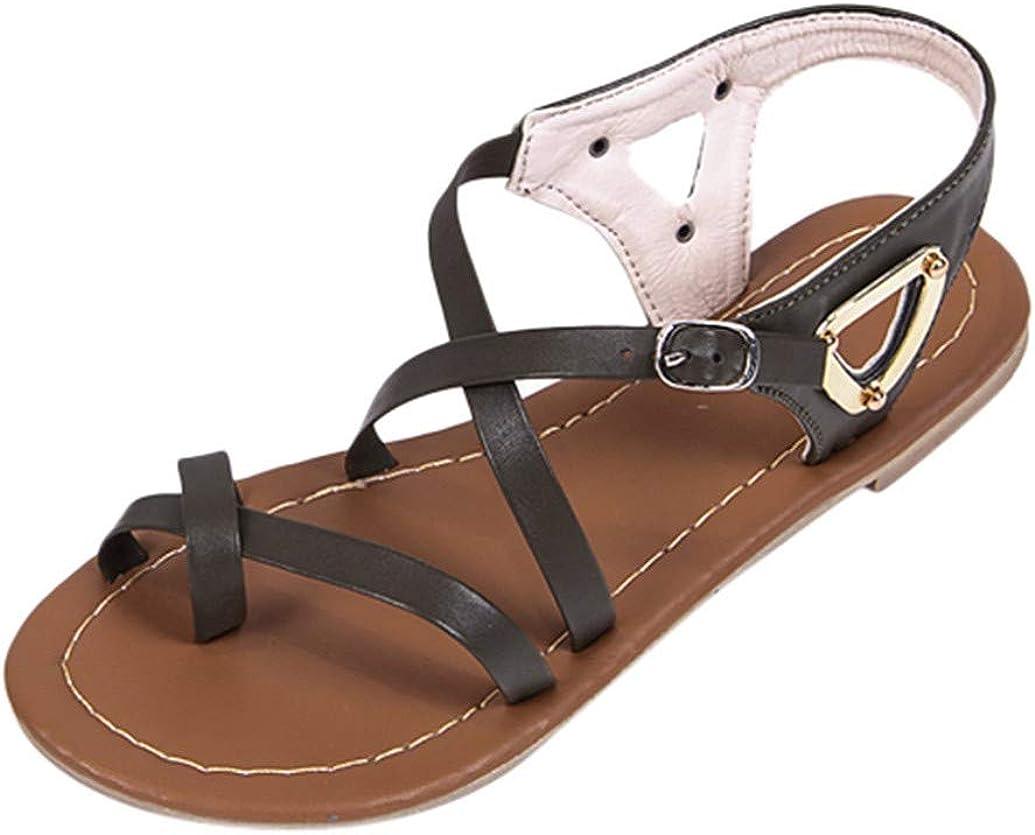 Sandales Femmes Plates, Lonupazz Eté Chaussures Chers Cross