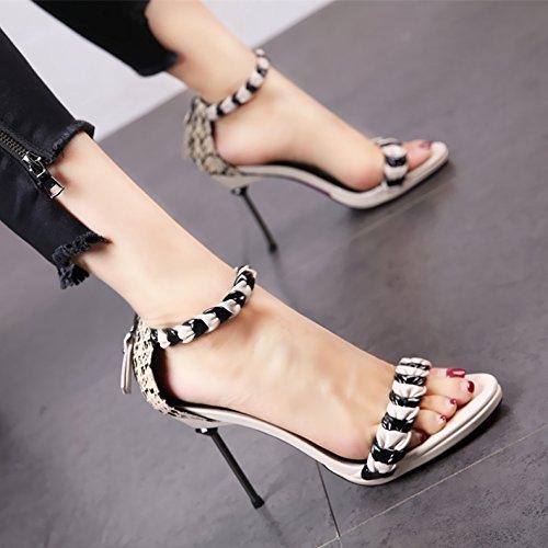 europeo moda piedi donna tacchi stile sandali dita In alti sexy b estate scarpe alla dei YMFIE X8RwExqn