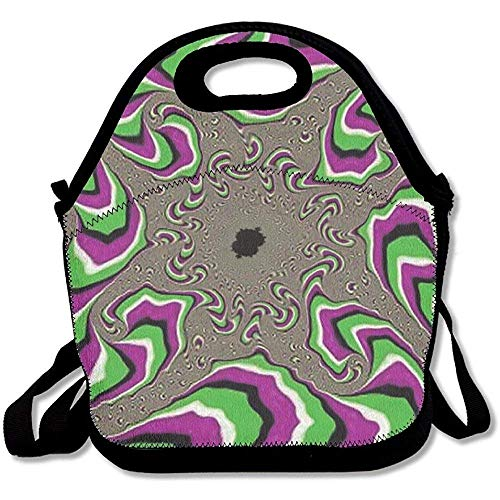- Hopes's Purple Green Moving Optical Illusion Lunch Tote Bag Bags Awesome Lunch Handbag Lunchbox Box School Work Outdoor