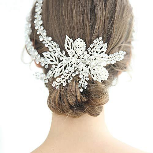 Top Queen Handmade Rhinestones Wedding Head Band Bridal Hair Accessories Headpieces(HP254-7-8) -