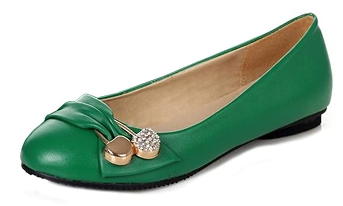 Damen Komfortable Blockiert Runde Kappe Flache Patent Pumps Loafers Slip-on Casual Leder Ballerina Dolly Work Ballettschuhe EU 41 Weiß oIdV2YcoA