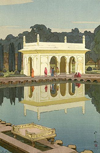 (Japanese Art Print - Shalimar Garden, Lahore from the India and Southeast Asia Series by Yoshida Hiroshi (12