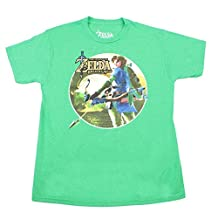 Legend of Zelda: Breath of the Wild Link with Bow Green Youth T-Shirt