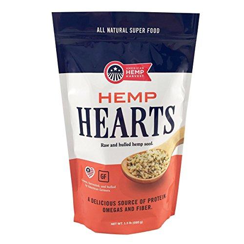 American Hemp Harvest (Hemp Hearts) Raw Shelled Hemp Seeds, Grown in the USA (1.5 Ibs) Gluten Free, Vegan, Non-GMO, Sustainablity Grown