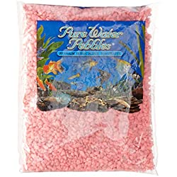 Pure Water Pebbles Aquarium Gravel, 2-Pound, Neon Pink