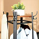 VASAGLE Industrial Coat Rack, Coat Stand with 3