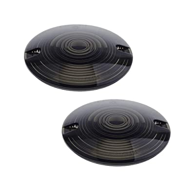 NTHREEAUTO Turn Signal Lights Lens Covers Smoked Compatible with Harley Touring Electra Glide Road King Softail: Automotive