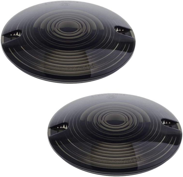 4PC Turn Signal Light Indicator Smoke Visor Lenses Lens For Harl-ey Softail Dyna