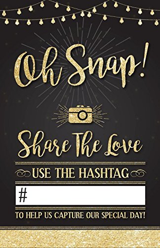 WEDDING HASHTAG SIGN. Beautiful social media share sign for all wedding receptions, add your own hashtag!