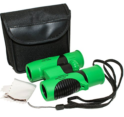 Kids Binoculars Set 8x21 by Dreamskope- Shockproof Compact Binoculars for Kids- Toys for Girls and Boys-Bird Watching-Astronomy-Hunting-Educational Learning-Outdoor Play-Childrens Birthday - Things For To Camping Bring Fun