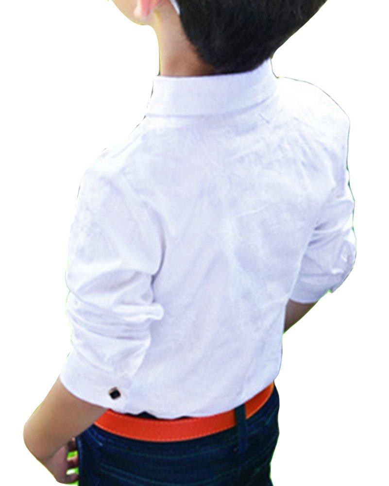 LaoZanA Bambini E Ragazzi Manica Lunga Camicie Magliette Casual Festa Camicie