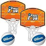 Wilson (2 Pack) NCAA Over-The-Door Mini Basketball Hoops & Balls Set Indoor Kids Game
