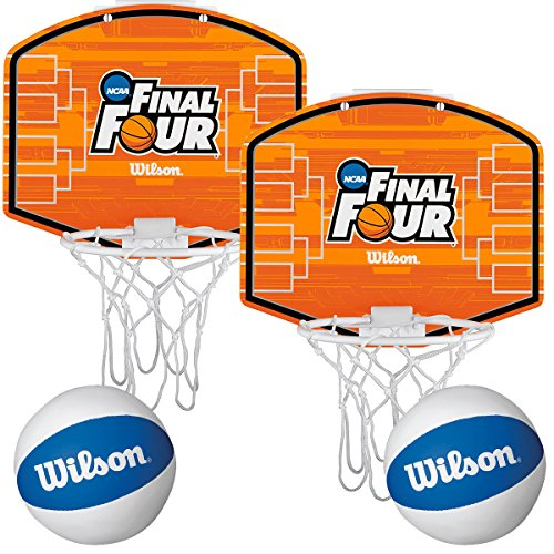 Wilson (2 Pack) NCAA Over-The-Door Mini Basketball Hoops & Balls Set Indoor Kids Game