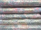 PAINTED PAPERS-Coral/Gray/Gold Gift Wrap-sponged-1 sheet 26''X 60''