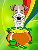 Caroline's Treasures BB1991GF Wire Haired Fox Terrier St. Patrick's Day Garden Flag, Small, Multicolor