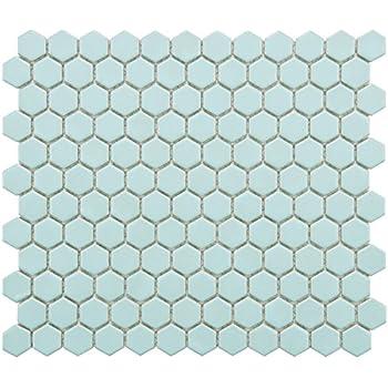 Somertile Fxlm1hml Retro Hex Matte Porcelain Floor And
