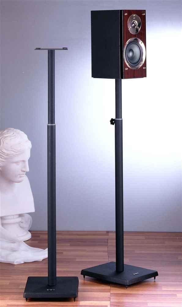 VTI BLE101 Surround Sound Adjustable Speaker Stand-Black – Black