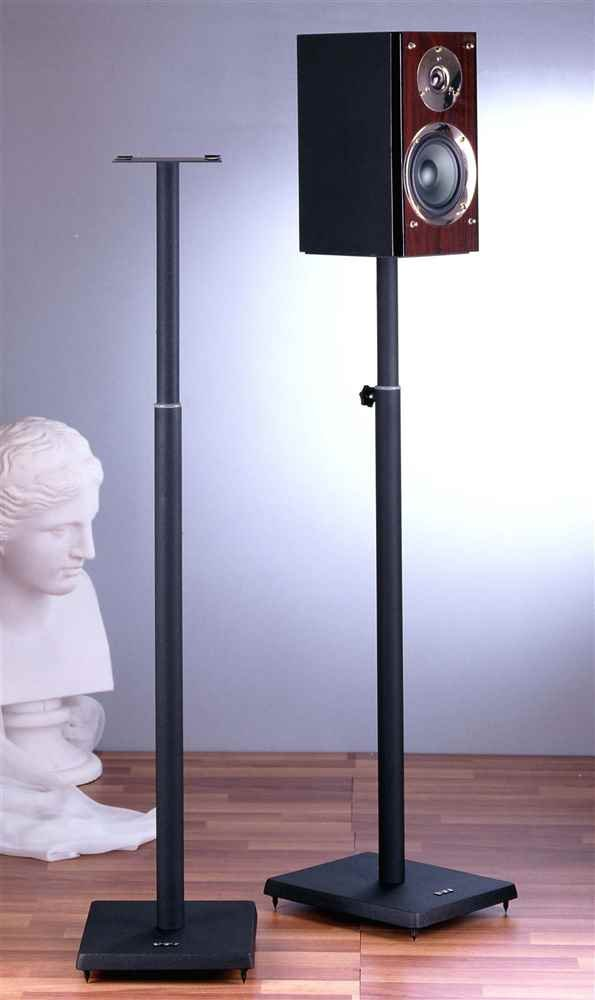 VTI BLE101 Surround Sound Adjustable Speaker Stand-Black - Black