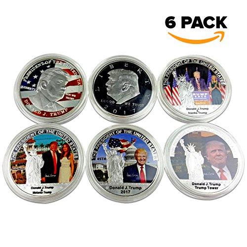 Trump Coins Six (6) POTUS President Presidential White House Donald Ivanka Melania