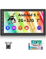 Android Double Din Car Stereo Car Radio Bluetooth 7 Inch Touch Screen with GPS Navigation WiFi Dual USB, FM Radio Car Multimedia Player Support Phones Mirror Link Steering Wheel Control Backup Camera