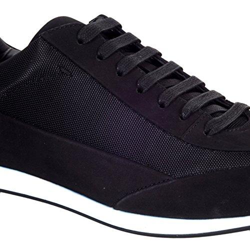 Hugo Boss, sneaker in pelle scamosciata nero BOSS5271