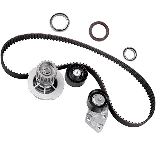 "Timing Belt Kit with Water Pump, ECCPP for""HTD"" 2004-2008 Chevrolet Aveo 1.6L AVEO5 TBK335 16V VIN 6 DOHC E-TEC II"