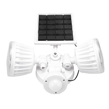 MagiDeal Luz Solar de Sensor de Movimiento PIR LED Giratorio para Garajes Cobertizos Corredores Jardín Seguridad