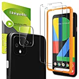 1 Pack Camera Lens Protector for Google Pixel 4 XL Tempered Glass + 2 Pack Screen Protector for Google Pixel 4 XL [Alignment Frame][Touch Sensitive] [Case Friendly] (Color: Clear)
