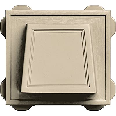 "Builders Edge 140116774011 4"" Hooded Dryer Vent 011, Sandalwood"