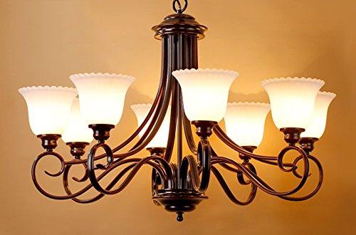 Kronleuchter Für Den Garten ~ American country kronleuchter garten retro glas lampe wohnzimmer