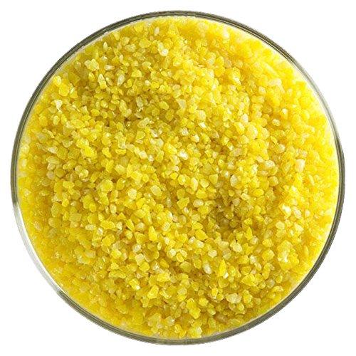 Sunflower Yellow Opalescent Fusible Glass Medium Frit - 4oz - 90COE - Made From Bullseye Glass Bullseye Sunflower