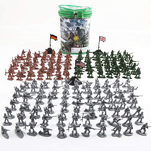 Army Men Figures - Beebeerun Plastic Army Men Toys for Boys 300 PCS, Little Toys Soldiers Army Guys Action Figures