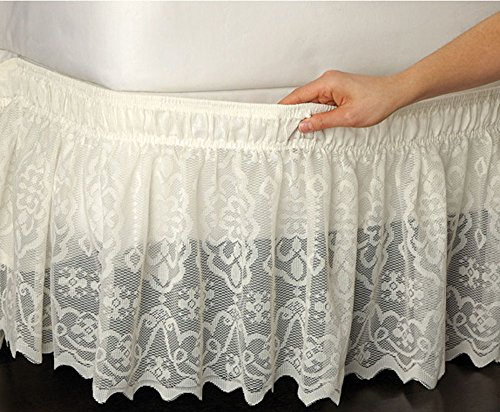 (Unbranded Wrap-Around Queen/King Lace Bedskirt Dust Ruffle Bed Skirt)