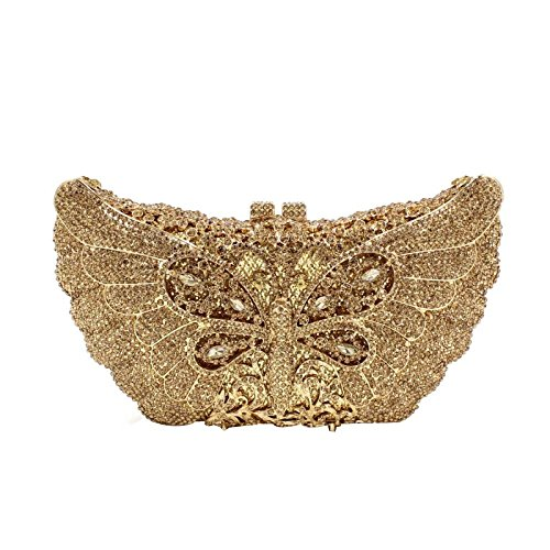 Dragonfly Bag Clutches Crystal Handbag Evening Women Evening Banquet Gold Purse U5IwEn