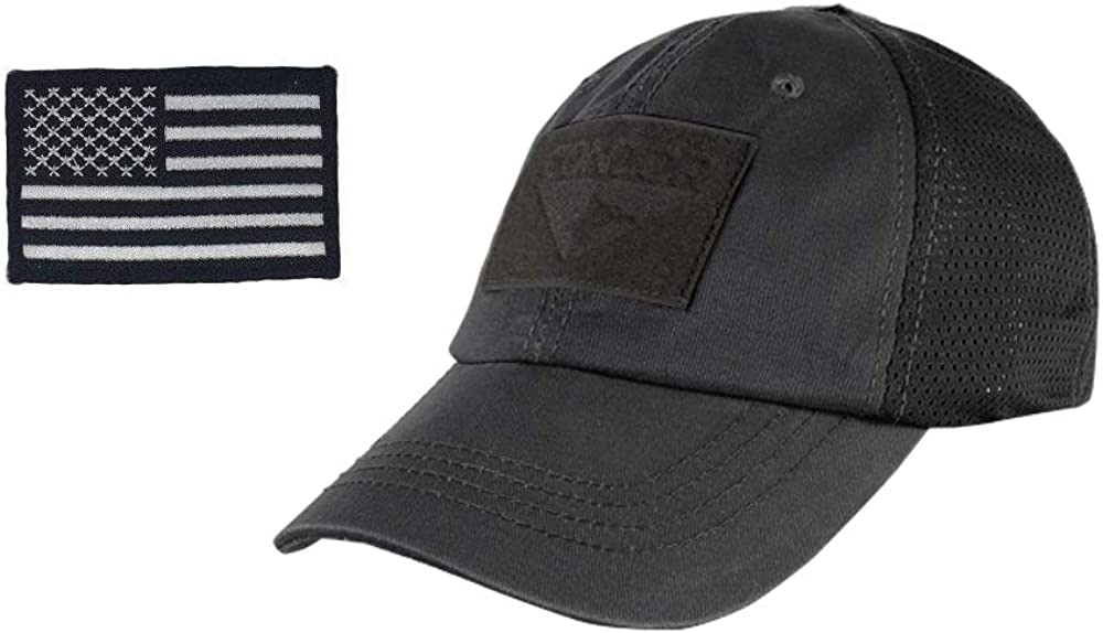 2A Tactical Gear Condor Outdoor Cap /& USA Flag Patch Stitching /& Excellent Fit for Most Head Sizes