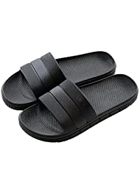 FLY HAWK Women's Men's Household Slippers Casual Non-Slip Bathroom Unisex Slippers Lightweight Sandal Indoor&Outdoor Couple Slippers,7 Colors