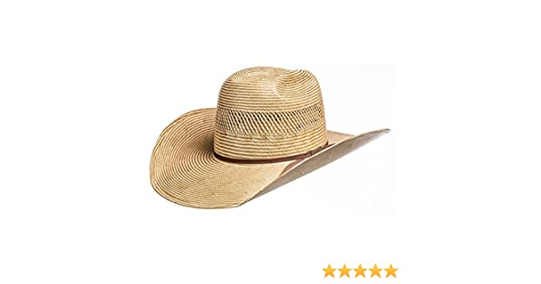 291377991ff American Hat Company Mens Ivory Chocolate 4 1 4 Brim Straw Cowboy Hat at  Amazon Men s Clothing store