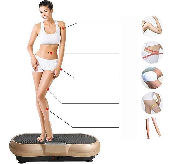 LQZHP Fitness 3D Placa Vibración, Entrenador Vibraciones Máquina ...