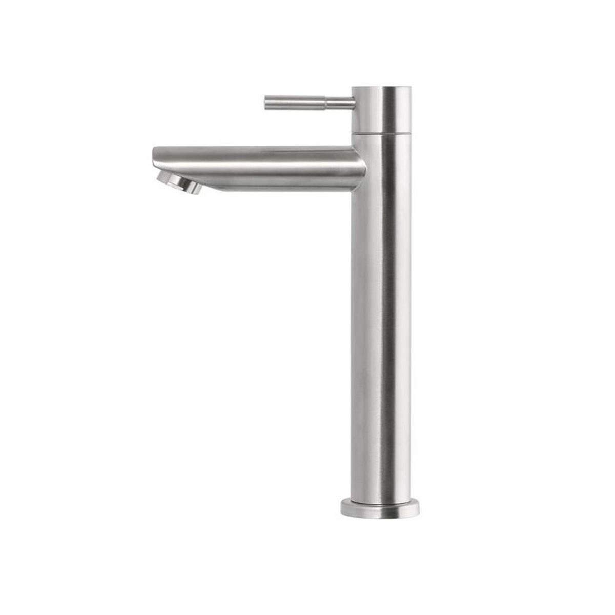 QIANZICAIDIANJIA Faucet, Stainless Steel Hot And Cold Lead-free Faucet Faucet, Suitable For Above Counter Basin Wash Basin Under Counter Basin stainless steel faucet by QIANZICAIDIANJIA