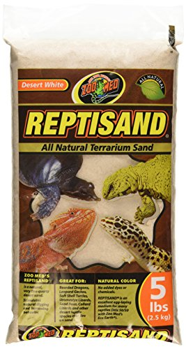 Calcium Substrate (Zoo Med ReptiSand, 5 Pounds, Desert White)