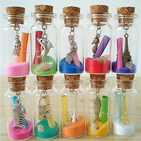 1 ml Pequeño Mini Botellas Vacías frascos viales de cristal con tapón de corcho mensaje bodas Wish Joyería Recuerdo de la fiesta para botellas ideal para ...