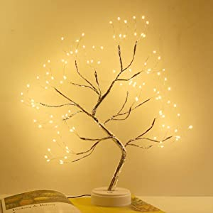 N/G Tabletop Bonsai Tree Light DIY Artificial Light Tree Led Lamp Decoration for Indoor Valentine's Day Wedding Present with Battery and USB Operated (108 Led Warm White)