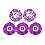Set of 5 Mop Replacement Heads for Spinning Mop, Purple A