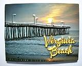 Virginia Beach with Pier Highlight Fridge Magnet