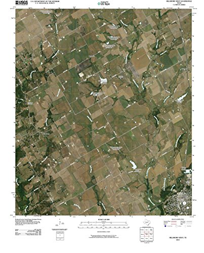 Texas Maps | 2010 Hillsboro West, TX USGS Historical Topographic Aerial Map |Fine Art Cartography Reproduction - Hillsboro Map Tx